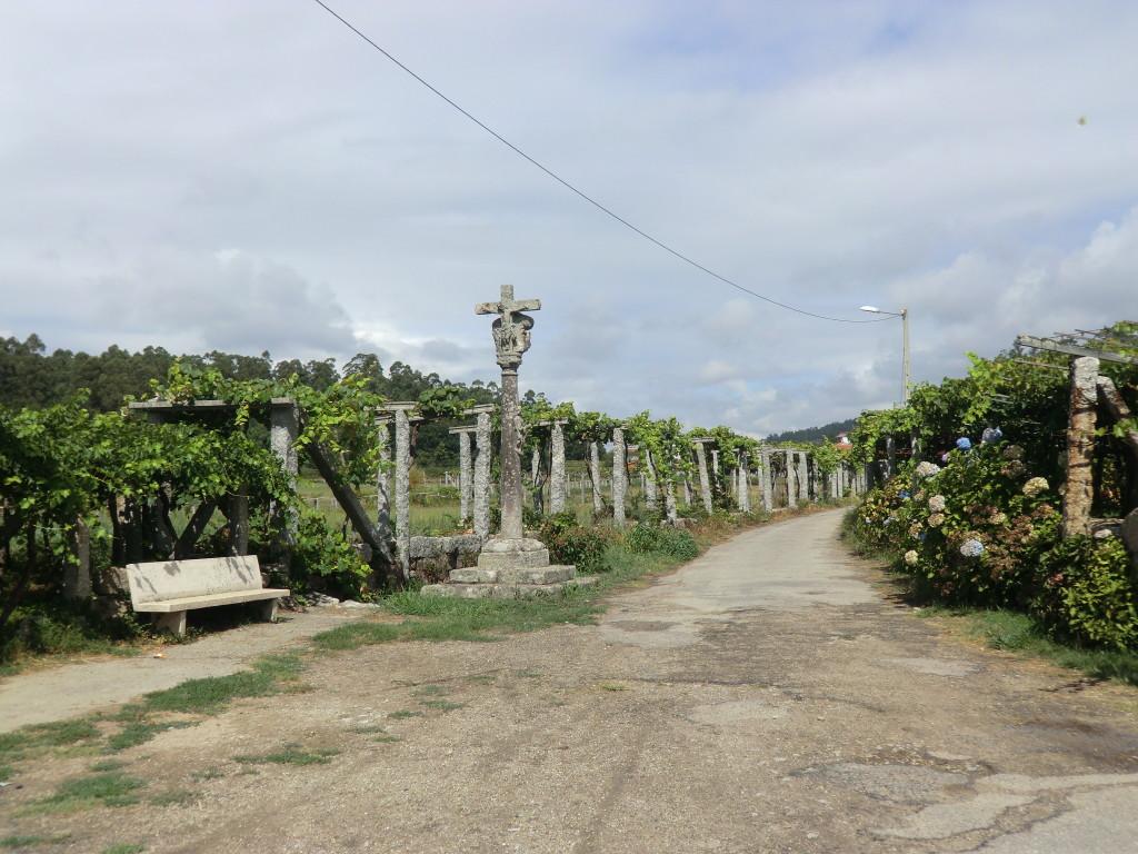 Kreuzung auf dem Weg nach Caldas des Reis