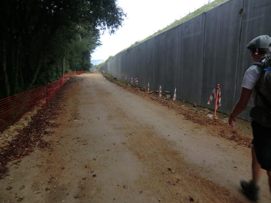 Baustelle Pontevedra Camino Portugues