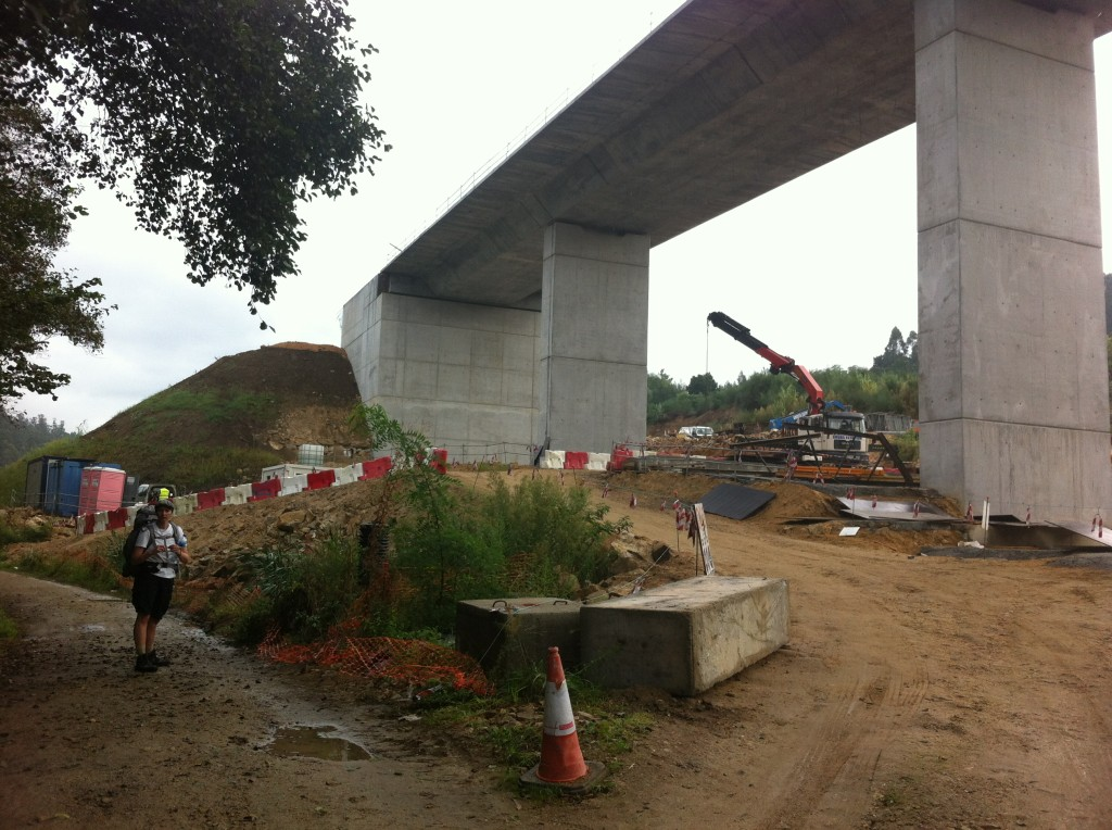 Baustelle in Pontevedra Camino Portugues