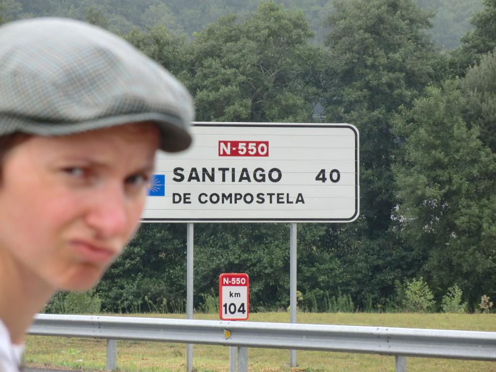 40 Kilometer bis Santiago de Compostela