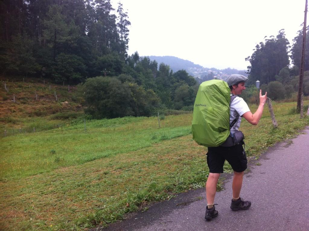 Regen auf dem Camino Portugues